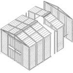 Erweiterung tepro Riverton 6x4 holzoptik