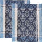 Erwin Müller Halbleinen Geschirrtuch im 2er-Pack blau 50x70 cm