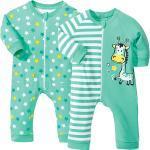 Grüne Kindermode mit Giraffen-Motiv mit Reißverschluss für Babys