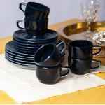 Eschenbach Kaffeeservice »Kaleido« (18-tlg), Porzellan, von Hand aufgebrachte Farbglasur, spülmaschinenfest, blau, dunkelblau