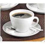 Esmeyer Kaffeetassen-Set Bistro 200ml weiß Porzellan 6 Paar