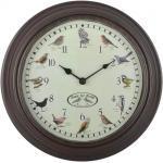 Esschert Design Uhr mit Vogelgezwitscher 8714982136542 (428846)