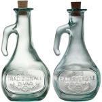 Essig- und Öl-Karaffen aus Recyclingglas, 2 x 0,5 l