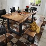 Hellbraune Massivio Esszimmermöbel geölt aus Massivholz Breite 150-200cm, Höhe 50-100cm, Tiefe 50-100cm