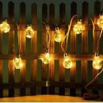 etc-shop LED Dekolicht, LED Solar Lichterkette Aussen Glühbirnen Lichterkette Außen Solar Balkon Deko, Hanfseil, LED 3 Watt warmweiß, L 570 cm, Garten