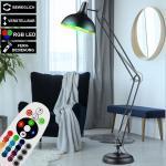 etc-shop LED Leselampe, LED Steh Lampe DIMMBAR Gelenk Leuchte bewegliche FERNBEDIENUNG im Set inkl. RGB LED Leuchtmittel