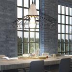 etc-shop Pendelleuchte, Hänge Leuchte Käfig Design Pendel Lampe Decken Beton Strahler im Set inklusive LED Leuchtmittel