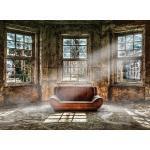 EUROART Wandbild 100 x 135 cm Lonely Couch Holz Braun