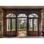 EUROART Wandbild 100 x 135 cm Room with a View I Holz Braun