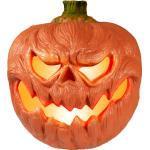 EUROPALMS Halloween Kürbis beleuchtet, 18cm