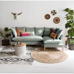 Eva Padberg Collection Ecksofa Lavina 2,5-Sitzer Mint Webstoff 253x92x131 cm
