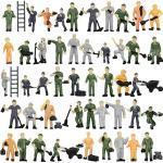 Evemodel 50 STK. P8710 NEU verschieden bemalte Figuren Bauarbeiter Arbeiter Spur H0