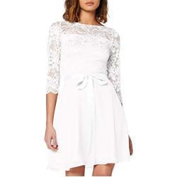 Elfenbeinfarbene 3/4-ärmelige Brautkleider & Hochzeitskleider mit Reißverschluss für die Braut für Damen Übergrößen