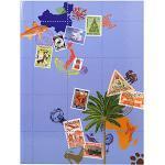 Exacompta 25644E Einsteckalbum (für Briefmarken Globe Trotter, 16 Seiten, 16,5 x 22,5 cm) 1 Stück farbig sortiert