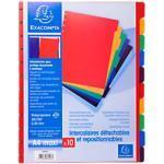Exacompta Register 86003E DIN A4 Maxi 10-teilig Perforiert Kunststoff Blanko 10 Stück