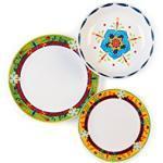 Excelsa Tex Mex Tafelservice 18-teilig, Keramik, Mehrfarbig