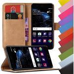 Eximmobile - Book Case Handyhülle für Huawei Ascend Mate 7 mit Kartenfächer in Schwarz | Schutzhülle aus Kunstleder | Handytasche als Flip Case Cover | Handy Tasche | Etui Hülle Kunstledertasche