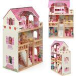 Exklusiver Aktionspreis Nur Bei Idealo: Bayer Chic 2000® Puppenhaus Mia Aus Holz Mit 3 Etagen Und Möbeln (pink)