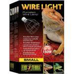 EXO TERRA, Porzellanklemmlampe Exo-Terra Wire Light silberfarben