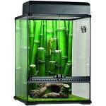 Exo Terra Terrarium aus Glas, Bamboo Forest Set, mit einzigartiger Front Belüftung, inkl. Moos Matte, Thermometer, Hygrometer, Bambusornament, 45 x 45 x 60cm