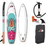 F2 SUP-Board Feel Free ohne Paddel weiß Ausrüstung Stand Up Paddle Sportarten