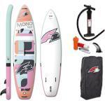 F2 SUP-Board Mono women ohne Paddel weiß Ausrüstung Stand Up Paddle Sportarten