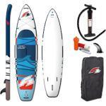 F2 SUP-Board Open Water ohne Paddel weiß Ausrüstung Stand Up Paddle Sportarten
