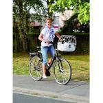 Fahrradkorb für Hunde weiß, Standard - 52 x 38 x 18/40 cm - mit Montagesystem