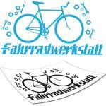 Fahrradwerkstatt Wandaufkleber Wandtattoo Fahrrad Aufkleber Tattoo TOP