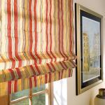 Faltrollo Striato - 1 Stück, 100 x 180 cm - Creme/Rot/Grün