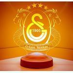 Fanartikel Personalisierte Geschenke lampe Geburtstagsgeschenk Wunschtext Galatasaray mit Gravur
