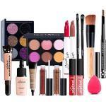 FantasyDay 16St Multifunktions Exquisite Kosmetik Geschenkset Make-up Schmink Kit für Gesicht, Augen und Lippen - Weihnachten Makeup Set mit Abdeckcreme Lidschatten Lippenstift Lipgloss Kosmetikpinsel