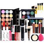 FantasyDay 25St Multifunktions Exquisite Kosmetik Geschenkset Make-up Schmink Kit für Gesicht, Augen und Lippen - Weihnachten Makeup Set mit Abdeckcreme Lidschatten Lippenstift Lipgloss Mascara Primer