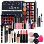 FantasyDay 28St Multifunktions Exquisite Kosmetik Geschenkset Make-up Schmink Kit für Gesicht, Augen und Lippen - Weihnachten Makeup Set mit Augenbrauencreme Lidschatten Lippenstift Lipgloss Mascara