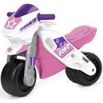 FEBER Famosa 800008174 MotoFEBER Racing - Laufräder mit Helm, für Mädchen von 18 Monaten bis 3 Jahren, violett