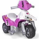 FEBER Famosa 800009608 Sweety - Motorrad mit 3 Rädern für Kinder von 3 bis 7 Jahren, 6V, pink