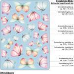 Fensterbild Frühling Ostern Schmetterlinge wiederverwendbar Fensteraufkleber