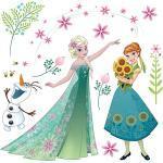 Fenstersticker Disney Frozen Flower, 19-tlg. mehrfarbig