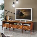 Fernsehtisch in Nussbaumfarben Barock Design