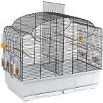 Ferplast Vogelheim für Kanarienvögel und Exoten CANTO, Käfig auch geeignet für Brutperiode mit Trennwand, und Zubehör