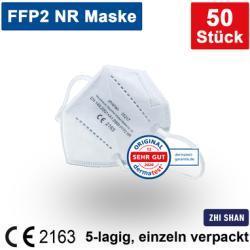 FFP2 NR Atemschutzmaske 5-lagig einzeln verpackt CE2163 50 St