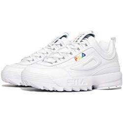 FILA Herren Disruptor 2 Premium RT Sneaker, Weiß/Weiß/Mehrfarbig, 44.5 EU