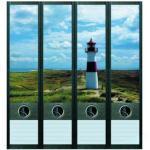 FileArt Lighthouse Design-Etiketten 4 Ordnerrücken
