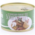 Filet vom Landschwein mit Schinken Speck und Champignon Rahm Soße - 400g - Konserve - Langes Mhd