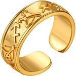 FindChic vergoldet tägliche Sternzeichen Schütze Ring Herren Damen Fingerring Partnerring Freundschaftsring kostenlos Schmuckbox für ehepaar