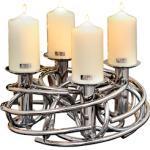 Fink Kerzenständer CORONA, Ø ca. 40 cm silberfarben Kerzenhalter Kerzen Laternen Wohnaccessoires