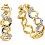 Firetti Paar Creolen, mit Diamanten