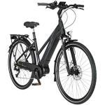 Schwarze FISCHER E-Bikes mit Beleuchtung Übergrößen mit Mittelmotor