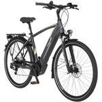 FISCHER Herren - Trekking E-Bike VIATOR 5.0i, Elektrofahrrad, schiefergrau matt, 28 Zoll, RH 55 cm, Brose Drive C Mittelmotor 50 Nm, 36 V Akku im Rahmen