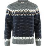 Marineblaue Nachhaltige Fjällräven Pullover mit Ellenbogen Patches für Herren